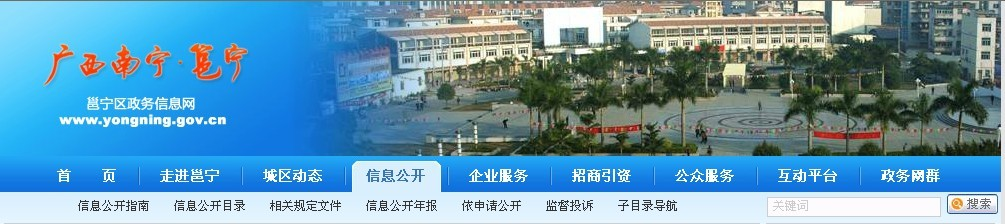 广西南宁市邕宁区政府门户网页